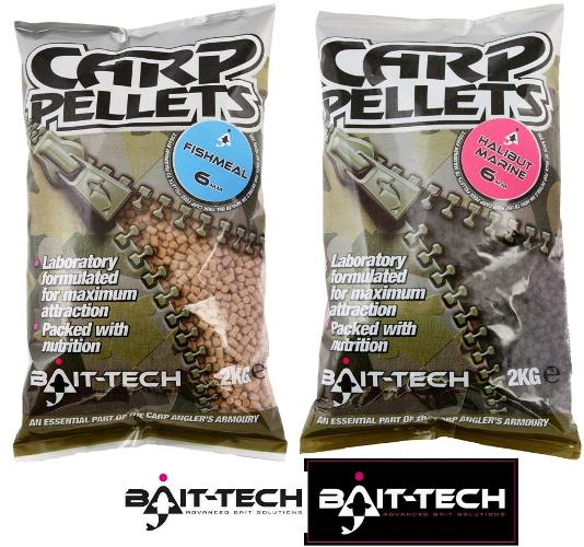 BAIT-TECH Pelety Hallibut Carp Feed Pellets 6mm, 2kg