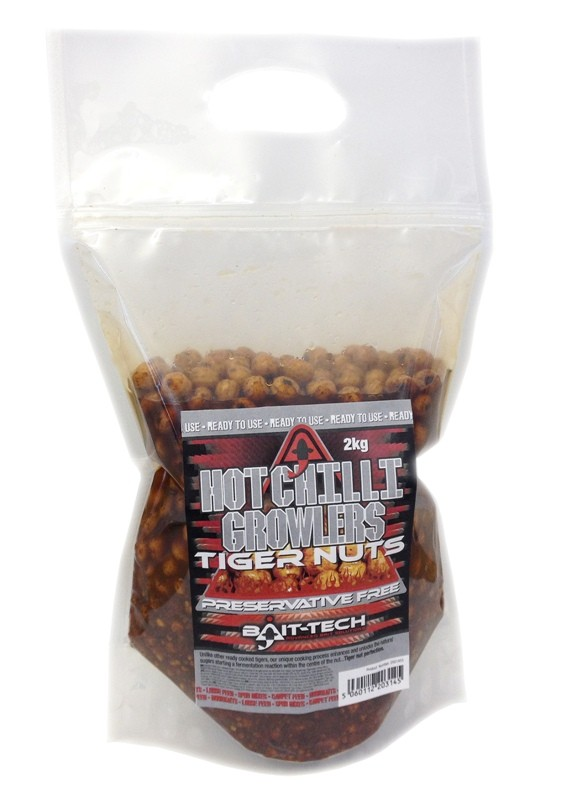 Bait-Tech Tygří ořech Hot Chilli Growlers Tiger Nuts Pouch 2kg