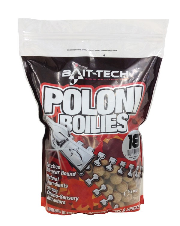 BAIT-TECH Boilies Poloni Shelf-Life 18mm, 1kg