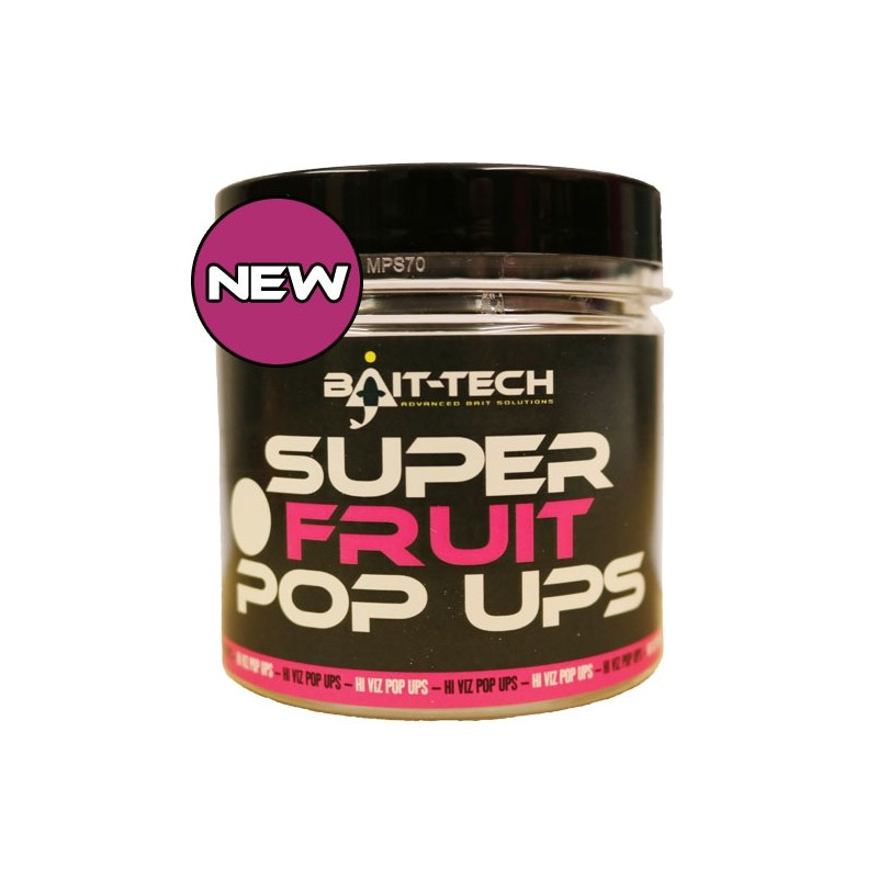 BAIT-TECH Boilies Super Fruit Pop-Ups 15/18mm, 70g