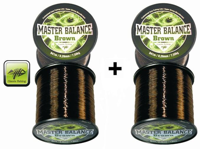 Giants fishing Vlasec Carp Master Balance Brown 0,26mm/941m Akce 1+1!