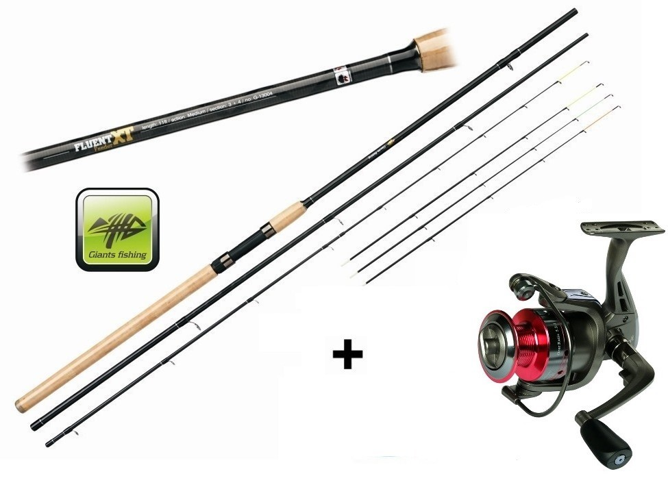 Prut Giants Fishing Fluent Feeder XT 12ft Medium + naviják zdarma!