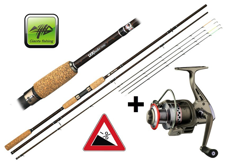 GIANTS FISHING Feedrový prút - LXR Feeder 11ft 50-100g + navijak ZADARMO!