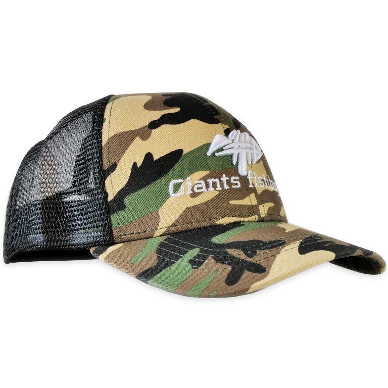 GIANTS FISHING Šiltovka - Cap Trucker Camo WL