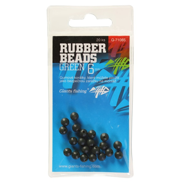 GIANTS FISHING Gumený stoper - Rubber Beads Transparent Green - 4mm (20ks)