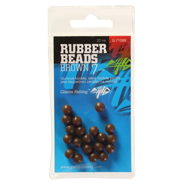 Gumové kuličky Rubber Beads Transparent Brown 4mm,20ks