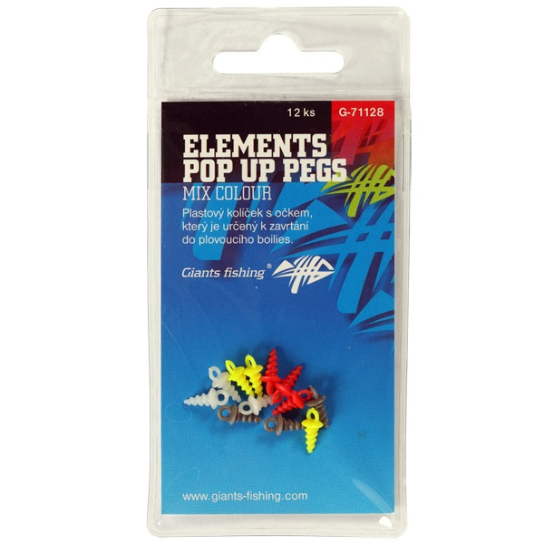 Kolíček s očkem Elements Pop Up Pegs Mix Colour,12ks
