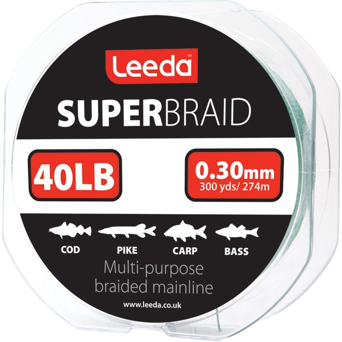 Spletaná šnúra Leeda Super Braid 40lb/274m