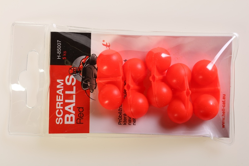 Chrastítko Scream Balls Red,5ks