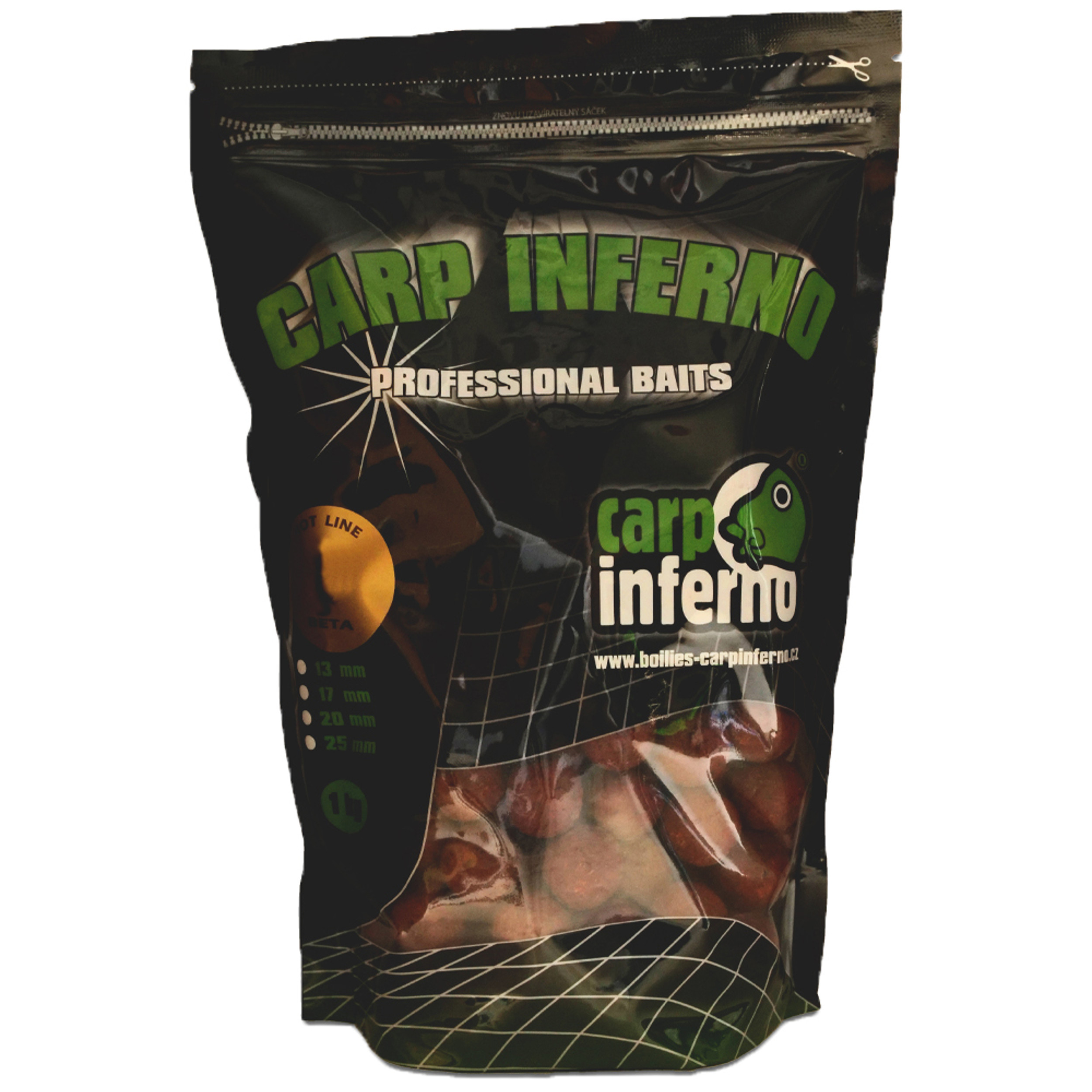 CARP INFERNO Boilies Hot Line 25mm, 1kg - ALPHA
