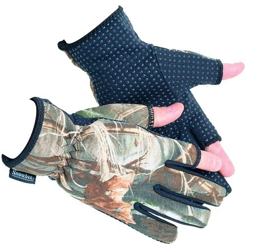 Snowbee Rukavice CAMO NEOPRENE GLOVES, vel XL