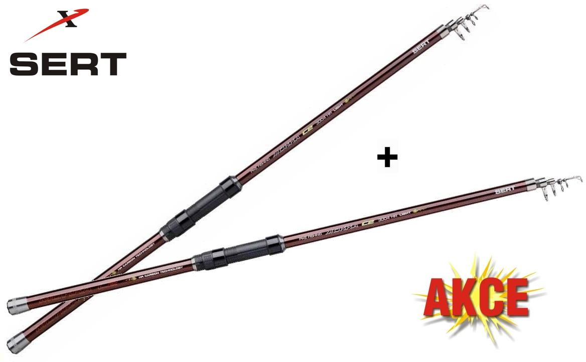 Prut Mokka Tele C2 350cm/40-80g Medium Akce 1+1 Zdarma!