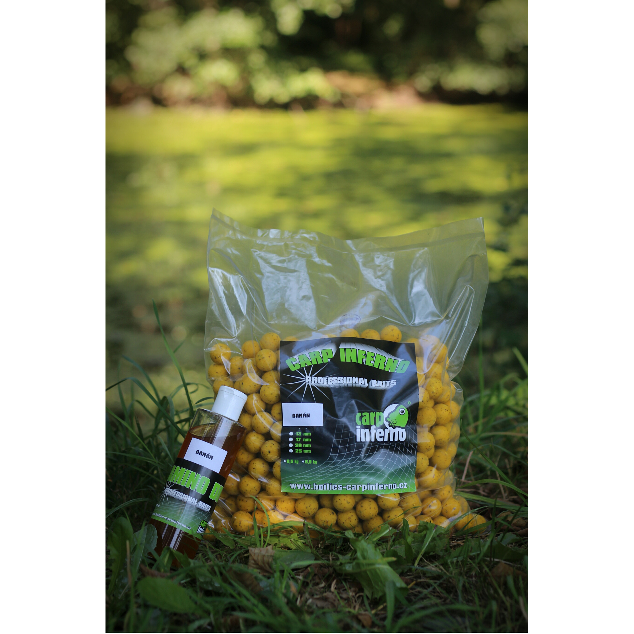 Carp Inferno AKCE Boilies Light Line 3 kg + 250 ml booster|Krab&Oliheň