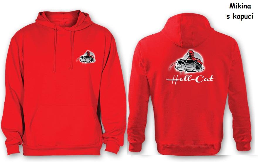 Mikina Hell-Cat klokánek s kapucí červená|L