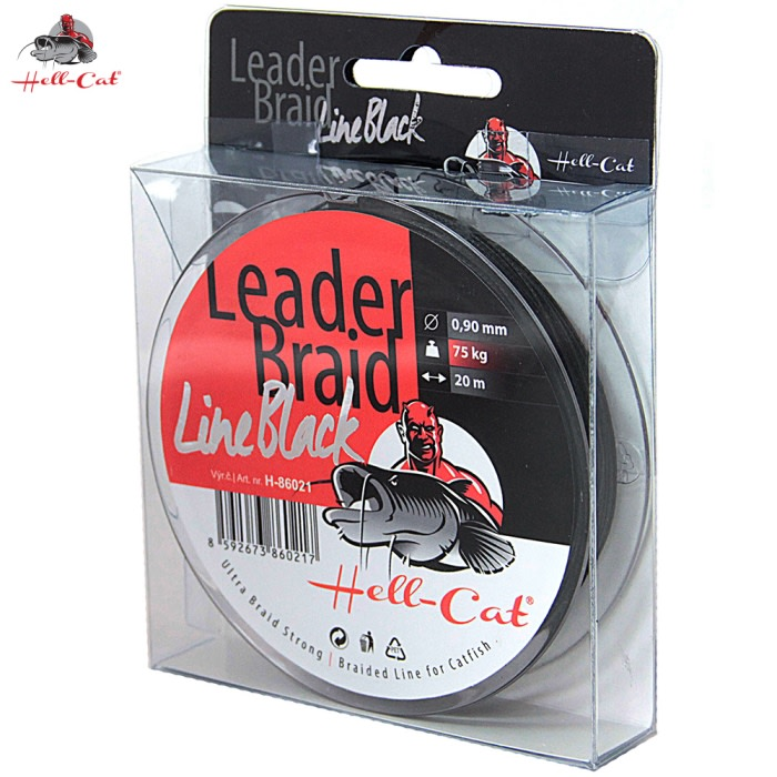 Hell-Cat Splétaná návazcová šňůra Leader Braid Line Black 20m|1.40mm/125kg