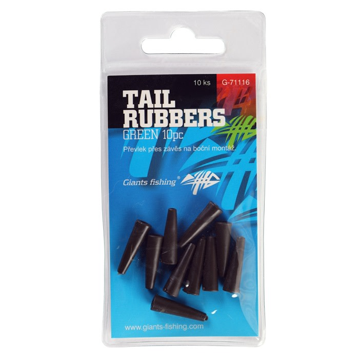 Giants fishing Převlek na závěsku Tail Rubbers Green/10ks ( 20mm )