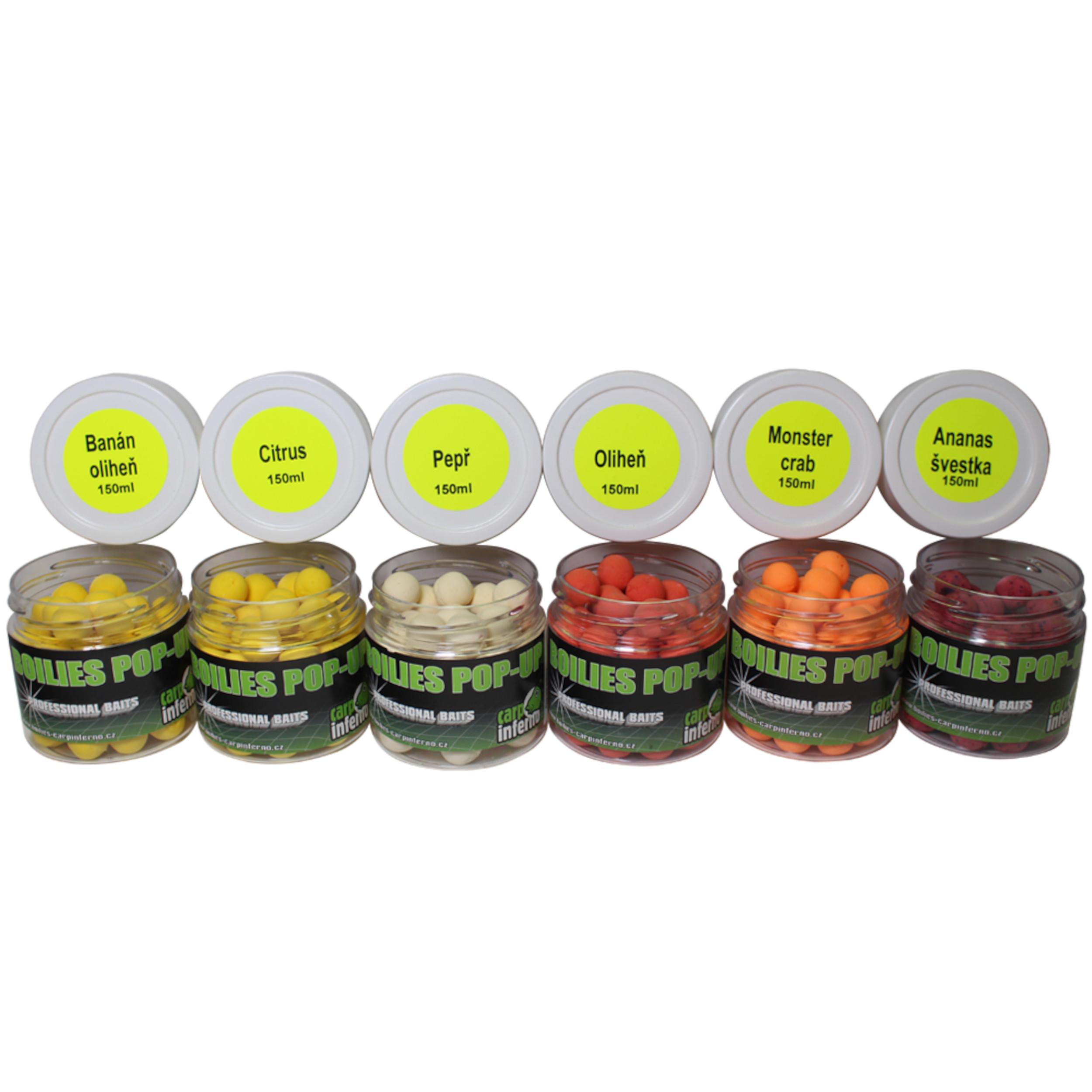 Carp Inferno Pop - up boilies 16 mm 150 ml|Ananas&Švestka (fialová)