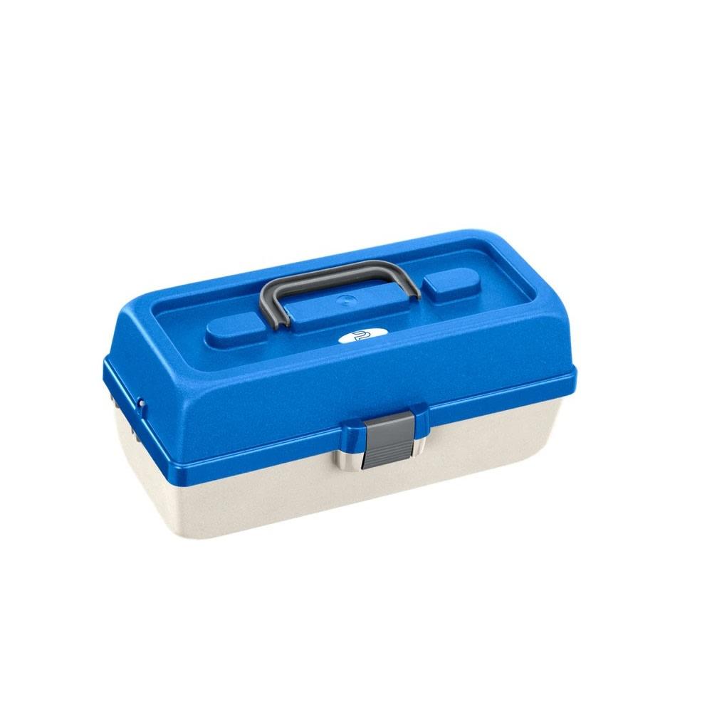 Plastica Panaro rybářský kufřík 118/ 2-patrový bílo-modrý