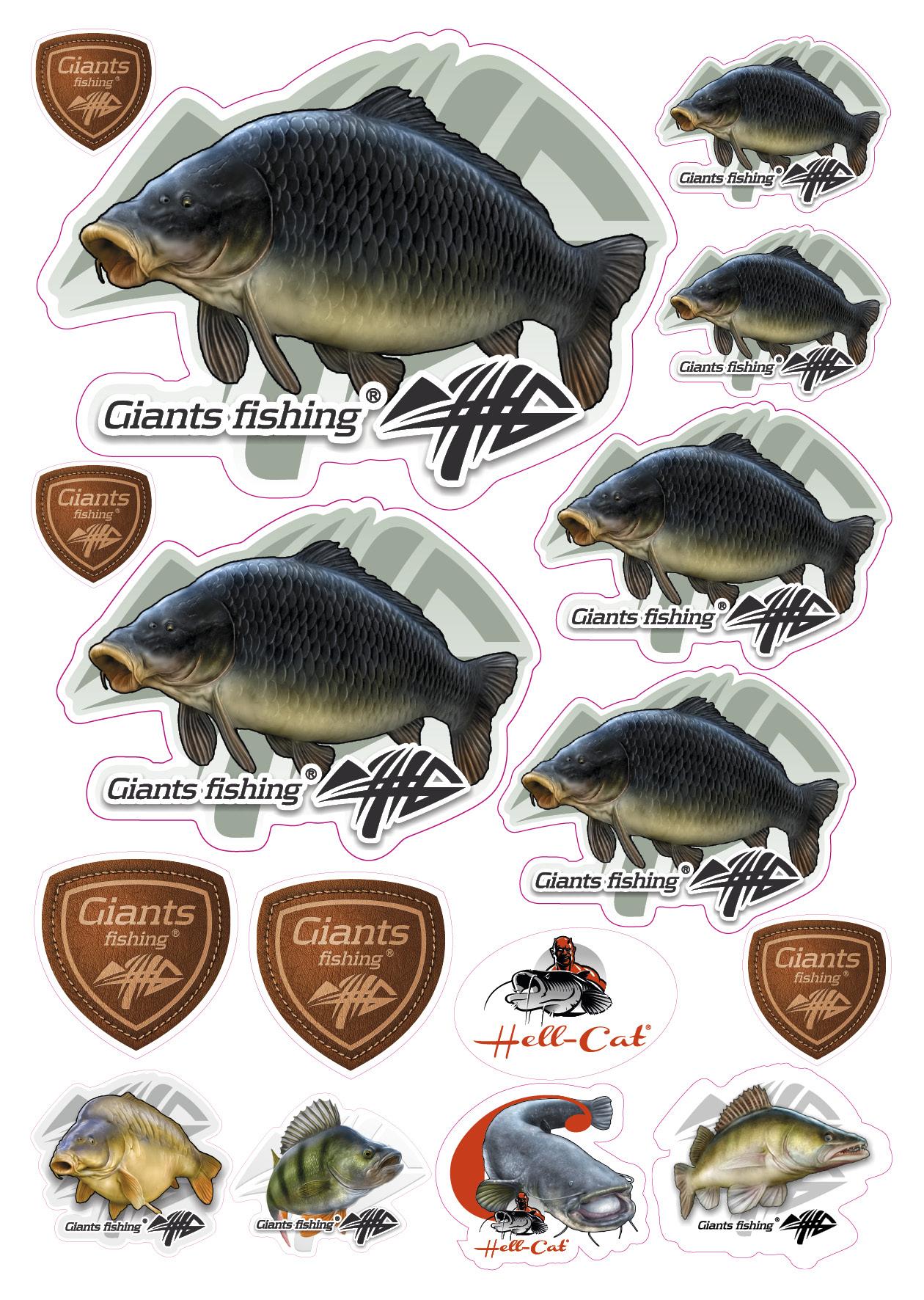 Mix nálepek Giants Fishing Kapr šupináč ( 16ks )